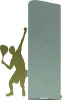 Trofeo silueta de metal de tenis
