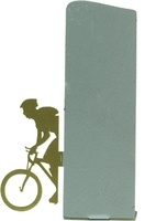 Trofeo silueta de metal para mountainbike