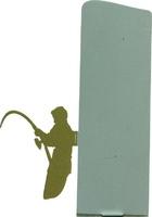 Trofeo silueta de metal para pesca