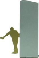Trofeo silueta de metal para petanca