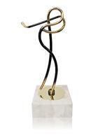 Trofeo silueta dorada de golf