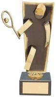 Trofeo tenis artesanal latón
