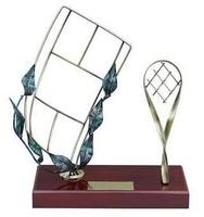 Trofeo tenis peana madera