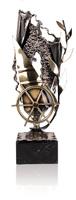 Trofeo timón de barco