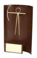 Trofeo tiro arco rectangular sin peana