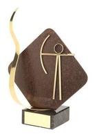 Trofeo tiro con arco detalle rombo