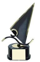 Trofeo vela negro y dorado