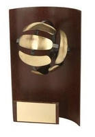 Trofeo voleibol rectangular